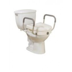 Toilet seat, Elevated W/Arms, Locking