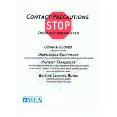 "Contact Precaution Sign, 8.5'' x 11"" Laminated"