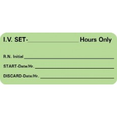 "Label ""IV Set Time"" 2 1/4 x 1"" (Roll/420)"