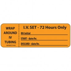 IV Set - 72 Hours Only Label (Roll/333)