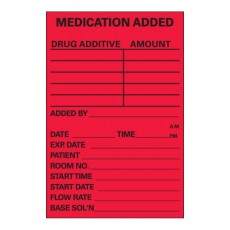 "IV Label ""Medication Added"" 3x2"" (Roll/500)"