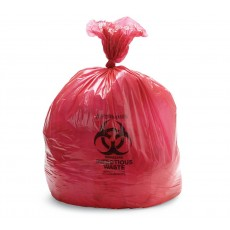Infectious Waste Bag, 4 Gallon, 17 x 17 Inch, Red