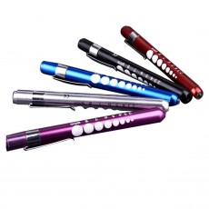 LED Penlight With Pupil Gauge, Replaceable AAA Battery