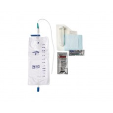 Pre-Connected 14 Fr Straight Catheter Insertion Tray